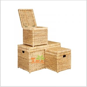 water hyacinth basket with lids